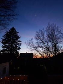 Syracuse Ny- dusk with Venus shining bright First post - what Ive seen so far on here is so amazingly beautiful Hope I can add to it