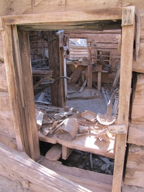 Tack room Rock Creek Ranch Desolation Canyon Utah