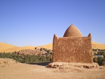 Taghit Algeria is situated on an oasis in the Sahara Desert
