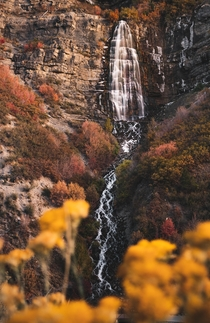 Tail End of Fall Bridal Veil Falls UT