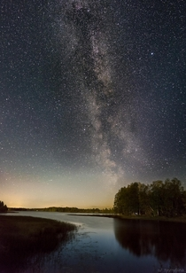 Tail of Milky Way galaxy photographed in Kajaani Finland