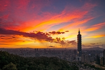 Taipei at Dusk  Photographed by