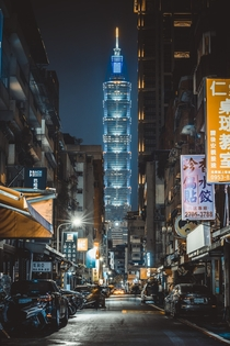 Taipei  rising over the high-rise streets of Taipei Taiwan