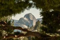 Take a peak at the often-ignored rear face of Half Dome Yosemite National Park OC