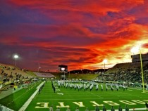 Taken at my schools last football game Fort Collins CO