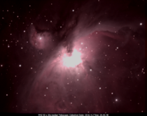 Taken at work two Saturdays ago M the Orion Nebula