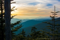 Taken from the top of Clingmans Dome Great Smoky Mountains Tennessee