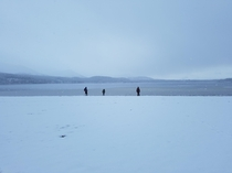Taken in Aviemore Scotland Dont often see snowy beaches where i am from anyway