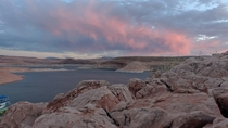Taken minutes before a rainstorm Lake Powell Utah x