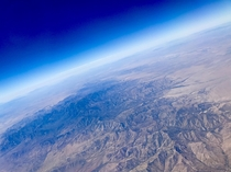 Taken over Arizona from an airplane