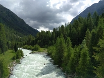 Taken while riding the Bernina express near Pontresina Switzerland