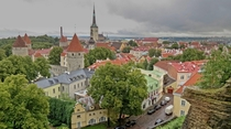 Tallinn Estonia from Patkuli viewing platform