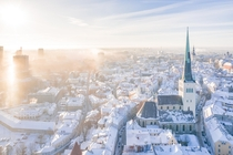 Tallinn on a frosty morning