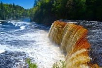 Tannic Water of Tahquamenon Falls MI