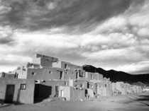Taos Pueblo New Mexico Constructed somewhere between - years ago according to the Taos peoples history