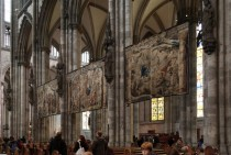 Tapestries in Cologne Cathedral Germany