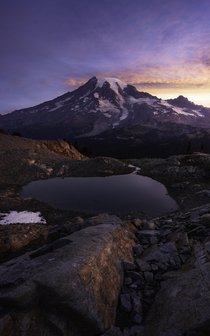 Tarnished Mount Rainier WA  One of my last shots from late Summer last year before the snow reclaimed this area again Focus stacked and exposure blended Edited in LR and PS using dodge and burn techniques and color correction and toning