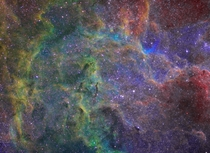 Taste the Rainbow Region in Cygnus shot in Narrowband
