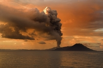 Tavurvur an active stratovolcano near Rabaul in Papua New Guinea by Taro Taylor