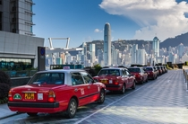Taxicabs at Kowloon Waterfront - Hong Kong