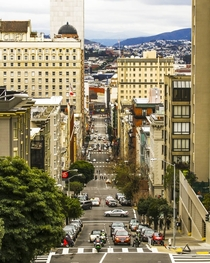 Taylor Street looking south from the top of Nob Hill San Francisco CA