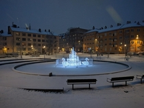 Technically the second snowfall of the season in Stockholm Sweden but I wasnt in town to see the first one