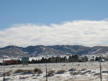 Tehachapi Pass wind farm with a dusting of snow