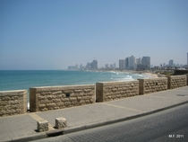Tel Aviv and the Mediterranean coastline Israel