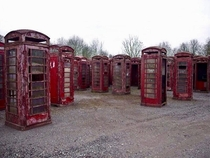 Telephone box graveyard