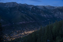Telluride Valley CO from above