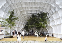 TempL a pavilion made from an abandoned ship hull Seoul South Korea