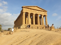Temple of Concordia in Sicily x