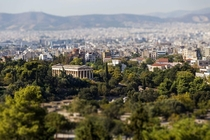 Temple of Hephaestus and the streets of Athens Greece