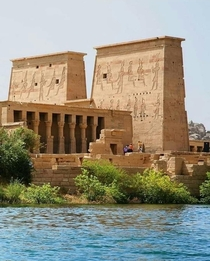Temple of Isis in Philae Island Aswan EGYPT