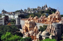 Temples in palitana gujarat India