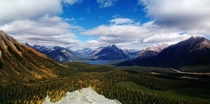 Tent Ridge Overlooking Spray Lake Alberta