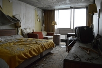 Tenth floor room of a hotel abandoned since