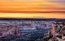 Tequila Sunrise in Utah at Mule Canyon near the Four Corners area