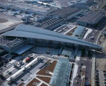 Terminal  of Copenhagen Airport looks like a giant paper plane