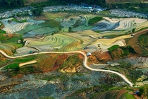 Terraced rice fields in Vietnam by Tuan Guitare