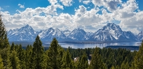 Teton Range from the summit of Signal Mountain