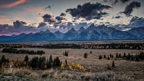 Tetons At Dusk Grand Teton NP Jackson Wyoming