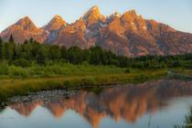 Tetons with the morning glow