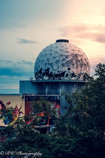 Teufelsburg at sunset An Abandoned former US NSA Cold War listening station in the Grunewald Forest in Berlin It was active between  to when the wall fell in  Now run by hippies and turned into a graffiti gallery A fascinating place