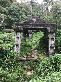 th Century Ananthanatha Jain temple in Wayanad Kerala India Destroyed by Tipu Sultans army during its invasion of Wayanad