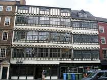 th-th century Jacobean Domestic Architecture Newcastle UK Two -story merchant houses known collectively as Bessie Surtees House