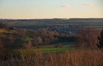 Thanington from a nearby hill in Rough Common Kent UK