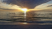 Thanksgiving sunset over Siesta Key FL USA