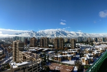 That one day when it snowed in the city itself Santiago Chile