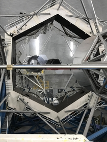 That time I got a behind-the-scenes tour of Keck Observatory at  ft in Hawaii Keck I primary mirror